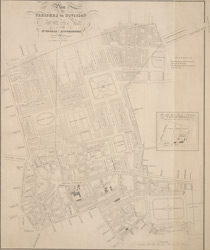 Plan of the parishes or division of St. Giles in the Fields and St. George, Bloomsbury